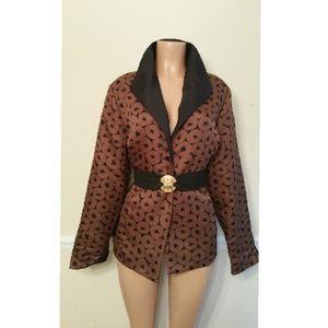 Vintage Silk Art Deco Blazer